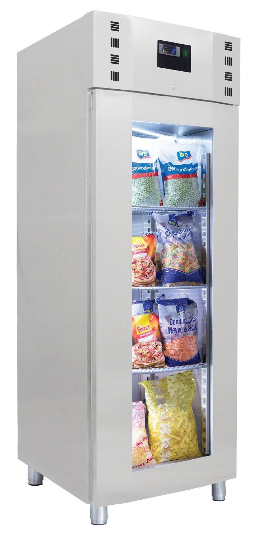 réfrigérateur en INOX porte avec vitre