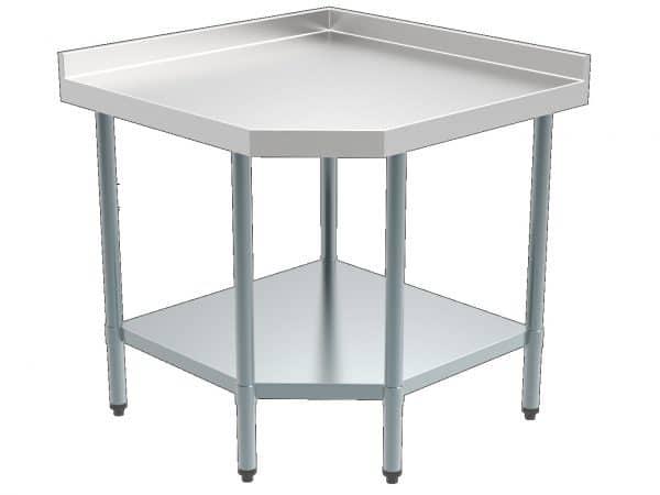 table de coin neutre en inox pour préparation en cuisine
