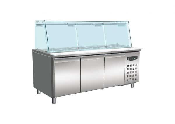 armoire réfrigérée avec vitrine pour aliments